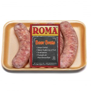 roma beer brats with label